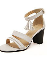 Women's Shoes Chunky Heel Comfort/Open Toe Sandals Casual Black/White