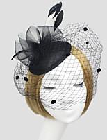 Women Fabric Hair Clip , Party Mesh / Satin Simple Veils Headpiece