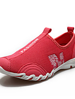 Women's Shoes Fabric/Tulle Flat Heel Round Toe/Closed Toe Loafers Outdoor/Athletic/Casual Red/Gray/Coral