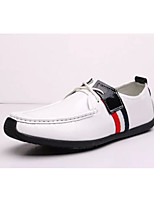Men's Shoes Casual Leather Oxfords Black/White