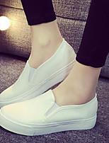 Scarpe Donna - Sneakers alla moda / Mocassini - Tempo libero / Casual - Plateau / Comoda / Punta arrotondata - Plateau - Tessuto -Nero /