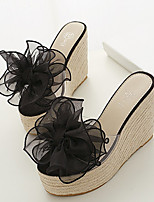Women's Shoes Silicone Wedge Heel Wedges Slippers Casual Black/Pink/Beige