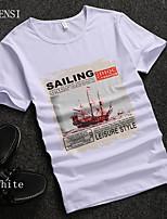 2015 new summer men's short sleeve T-shirt young Korean slim cotton t-shirt tee tide