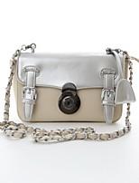 Women 's PU Baguette Shoulder Bag - White/Pink/Gray/Black