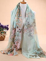 HOT sale Women's fashion new ancient printed 30D chiffon scarves, scarves shawls