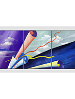 Oil Painting Set of 3 Modern Abstract,Canvas Material with Stretched Frame Ready To Hang SIZE:50*70CM*3PCS .