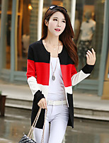 Women's Pink/Red Cardigan , Casual/Party Long Sleeve