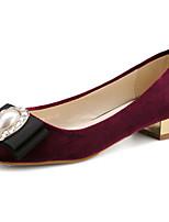 Women's Shoes Chunky Heel Heels Pumps/Heels Outdoor Black/Red
