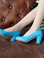 Women's Shoes  Stiletto Heel Heels/Round Toe Pumps/Heels Office & Career/Dress/Casual Black/Blue/Pink/Beige/Orange