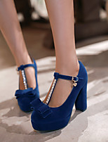 Women's Shoes  Stiletto Heel Heels/Round Toe Pumps/Heels Office & Career/Dress Black/Blue/Red