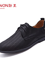 Men's Shoes Office & Career/Party & Evening/Casual Leather Oxfords Black/Tan