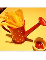 Small Kettle Shaped Chips Holder Coffee Shop Server Polka Dots Novelty Tableware (Random Colors)