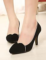 Women's Shoes Fleece Stiletto Heel Pointed Toe Pumps/Heels Casual Black/Blue/Red
