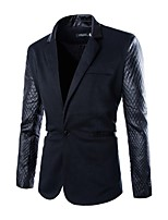 Men's Long Sleeve Regular Blazer , Polyester Pure