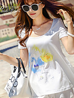 Pink Doll®Women's Round Neck Casual/Print/Cute Short Sleeve T-shirt