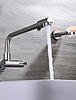 Brass Folding Wall Kitchen Faucet Handles Single Cold Kitchen Water Tap