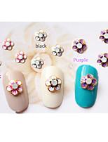 5pcs 3D Flash Romantic Flower Nail Jewelry