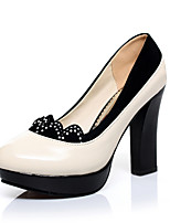 Women's Shoes Faux  Chunky Heel Round Toe/Closed Toe Pumps/Heels