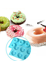 6-cell Donut Bundt Ring Silicone Baking Mould Tray