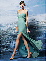 Formal Evening Dress - Sage Plus Sizes / Petite Sheath/Column Sweetheart Floor-length Georgette