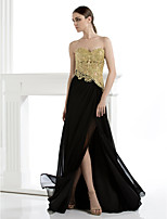 TS Couture Formal Evening Dress - Sheath/Column Strapless Floor-length Lace