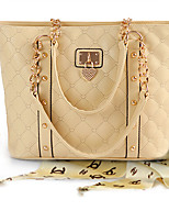 Women 's PU Sling Bag Tote - Beige/Black