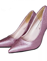 Women's Shoes Lace Stiletto Heel Heels/Pointed Toe Pumps/Heels Office & Career/Dress Black/Purple/White