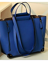 Women's The New Blue Leather Shoulder Bag Simple Fashion Pu