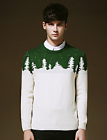 Men's Pure Pullover , Acrylic/Cotton/Polyester Long Sleeve