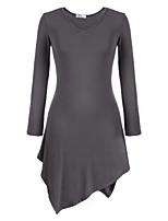 Chinanuo Women's Bodycon/Casual Micro-elastic Long Sleeve Long T-shirt (Cotton Blends)