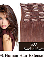 2 Set 20inch 8pcs /set 100g Clip-in Hair Remy Human Hair Extensions 19 Colors for Women Beauty