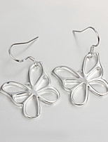 S925 Silver Butterfly Drop Earring Design for Women Party Jewelry for Girl