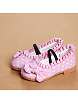 Girls' Shoes Outdoor/Dress/Casual Round Toe/Closed Toe Canvas Flats Black/Blue/Pink