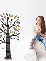 Wall Stickers Wall Decals Style Birds in The Color Tree PVC Wall Stickers