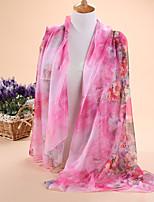 HOT sale Women's fashion new flowering shrubs printed 30D chiffon scarves, scarves shawls