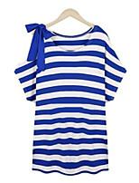 Women's Sexy Casual Cute Micro-elastic ½ Length Sleeve Long T-shirt (Cotton)