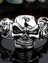 Toonykelly® Fashionable Men's Stainless Steel Skull Skeleton Cuff With Bracelet Bangle(1PC)