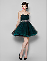 Homecoming Cocktail Party Dress - Jade A-line Sweetheart Knee-length Tulle
