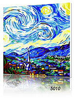 DIY Digital Oil Painting With Solid Wooden Frame Family Fun Painting All By Myself     Starry Sky 5010