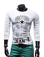 Camiseta De los hombres Casual Algodón - Manga Larga
