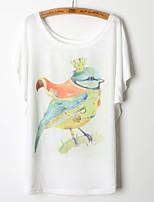 2015 Fashion Women Summer Cartoon Pattern Printing T-shirt Top Tee
