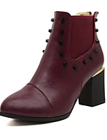 Women's Shoes Chunky Heel Combat Boots Boots Casual Black/Red