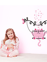 Wall Stickers Wall Decals Style Pink Cat PVC Wall Stickers