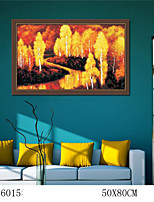 DIY Digital Oil Painting  Large Size Without Frame  Family Fun Painting All By Myself     Autumn Scenery 6015