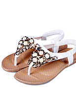 Women's Shoes  Flat Heel Peep Toe Sandals Dress With Beading More Colors Available