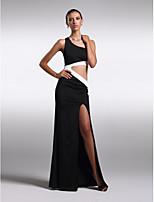 Kappe / Kolonne Juvel - Formell Aften Dress Gulvlengde Chiffon