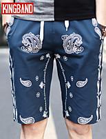 Men's Casual/Sport Print Shorts Pants (Cotton Blend) KB7B22