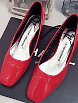 Women's Shoes  Chunky Heel Heels/Square Toe Pumps/Heels Casual Red/White