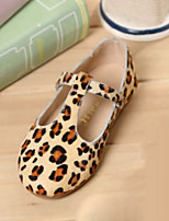 Girls' Shoes Casual T-Strap Flats Animal Print