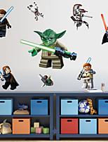 Wall Stickers Wall Decals, Cartoon Lego Robot Monster PVC Wall Sticker